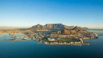 bird s eye view on cape town, republic of south africa