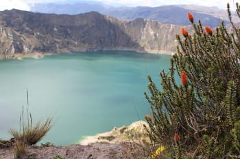 crater lake in loja, ecuador