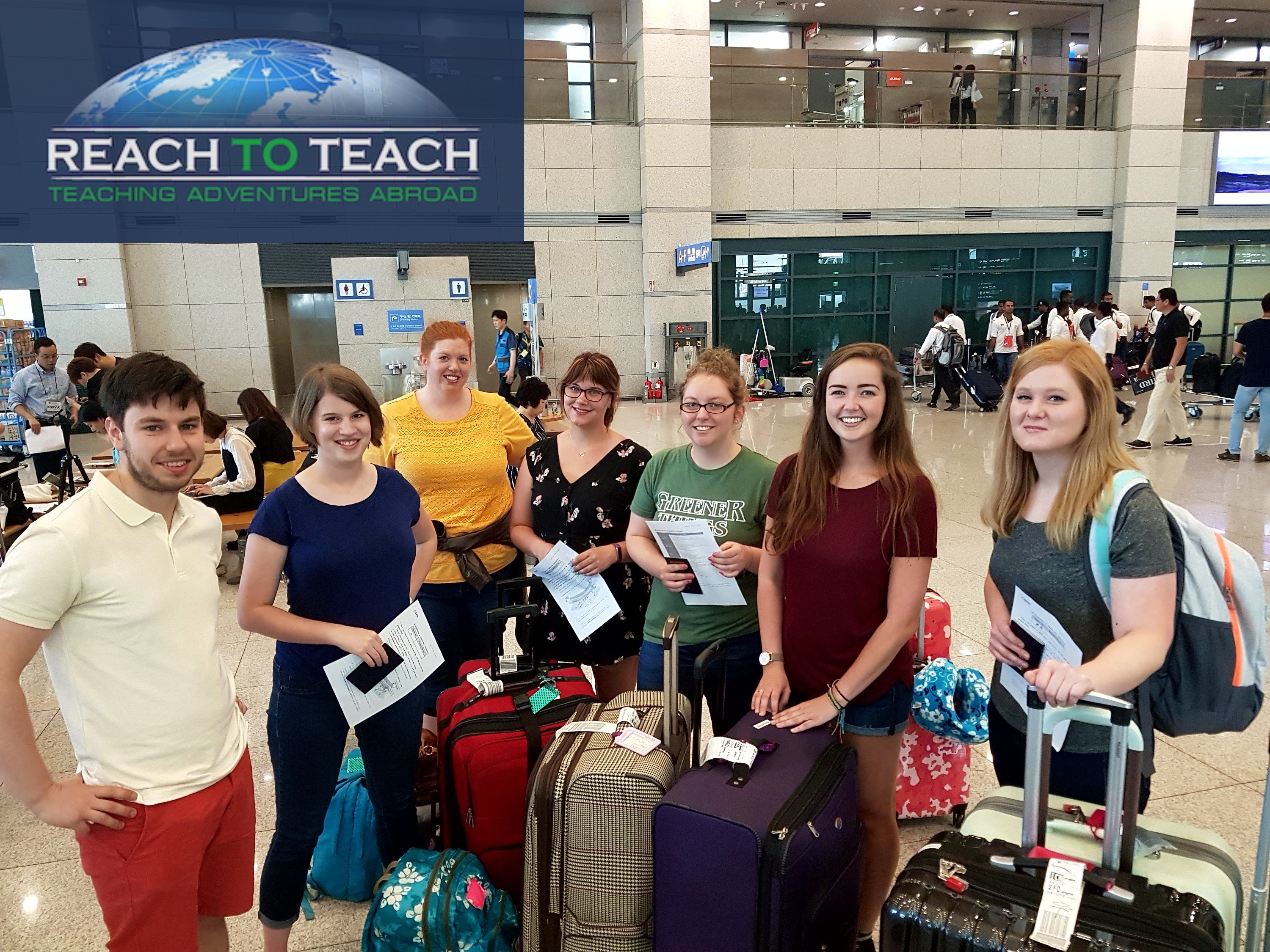 a group of new TEFL teachers arrived at a new country to start their work
